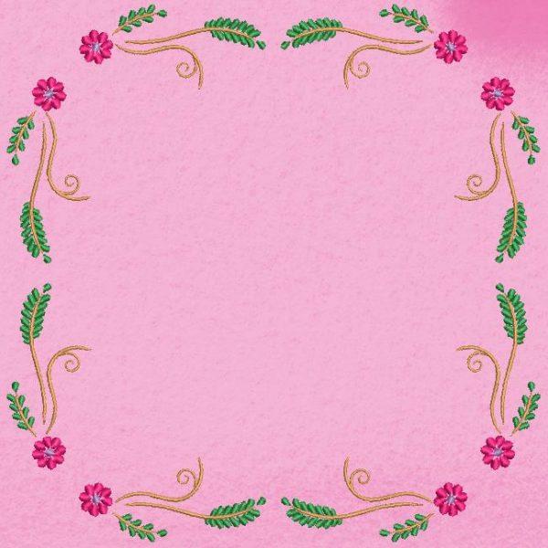 cadre fleuri arabesque 1
