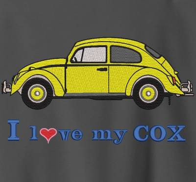 Motif de broderie machine I love my cox.