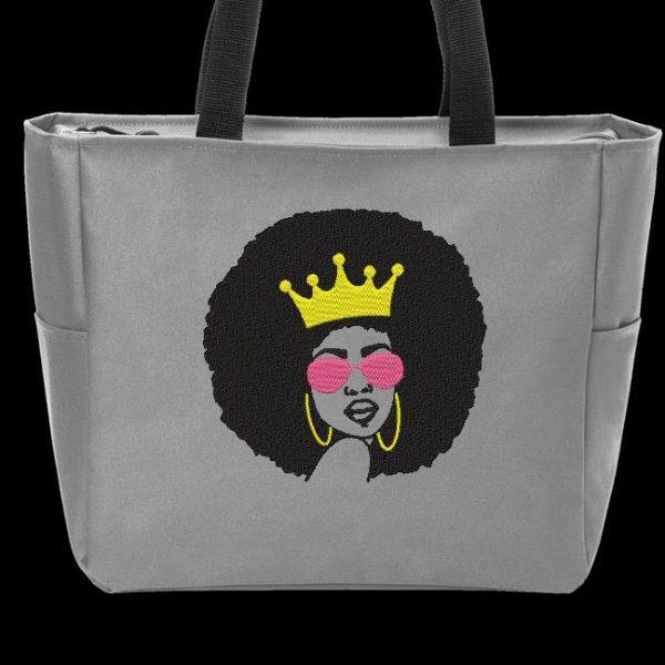 Motif de broderie machine d'une femme afro rétro vintage 2
