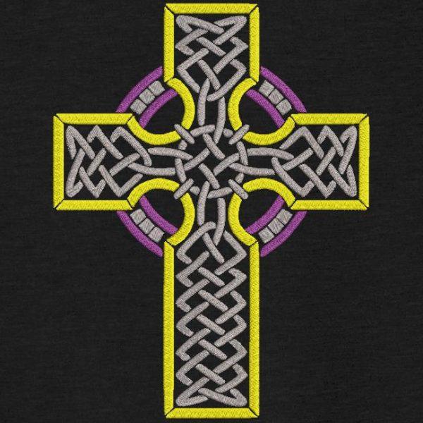 Motif de broderie machine d'une croix celtique 1.