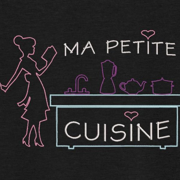 Motif de broderie machine ma petite cuisine.