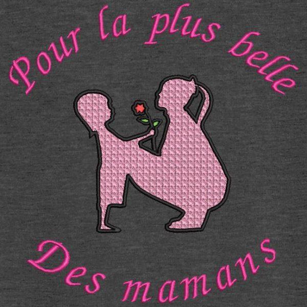 motifs de broderie fête des mères. Motif de broderie machine pour la plus belle des mamans.
