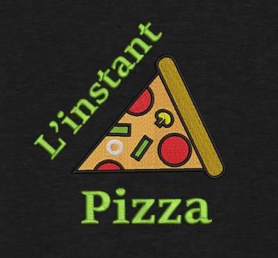 Motif de broderie machine l'instant pizza.