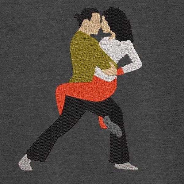 Motif de broderie machine danseurs de tango