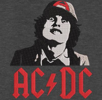 Motif de broderie machine Angus Young ACDC Angus Young ACDC machine embroidery design