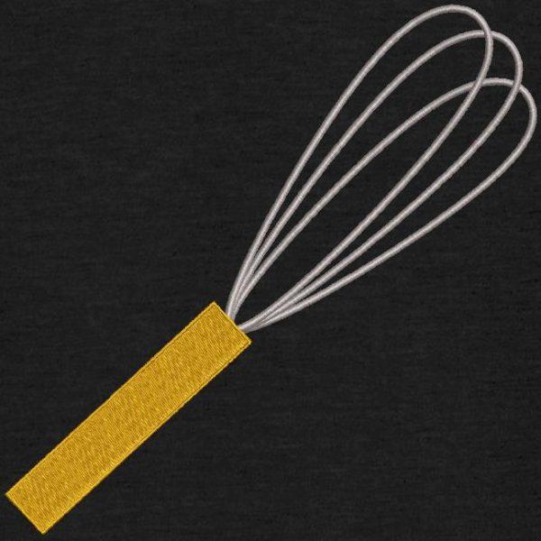 Motif de broderie machine ustensile de cuisine fouet.