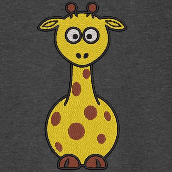 Motif de broderie machine bébé girafe.