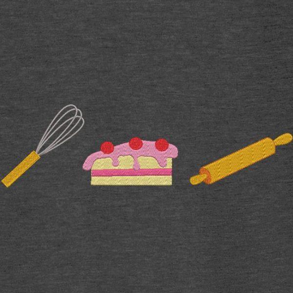 Motif de broderie machine fouet,rouleau ,pâtisserie.