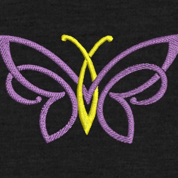 motif de broderie machine papillon décoratif .