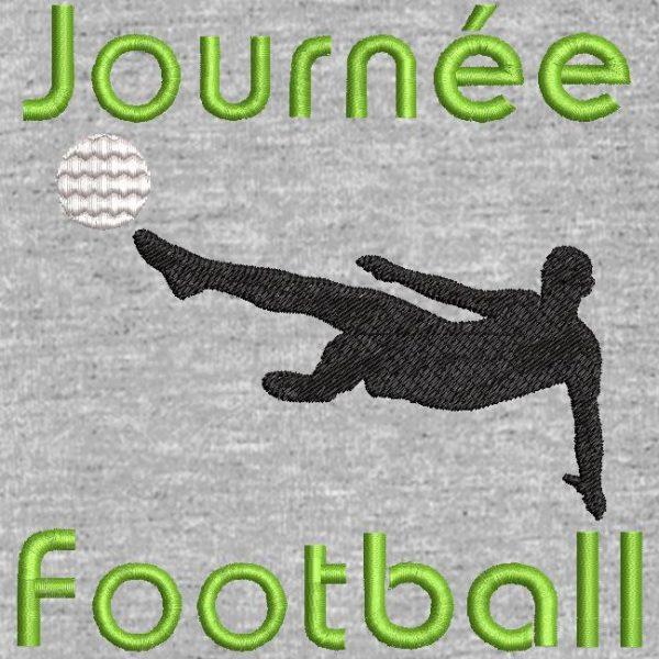 motif de broderie machine journée football .