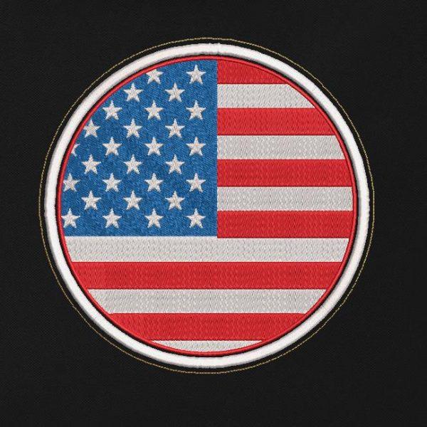 motif de broderie machine patch drapeau us. Drapeau américain. drapeau des Etats unis d'Amérique.