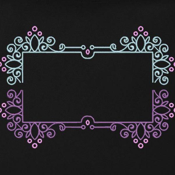 motif de broderie machine cadre arabesque 1.