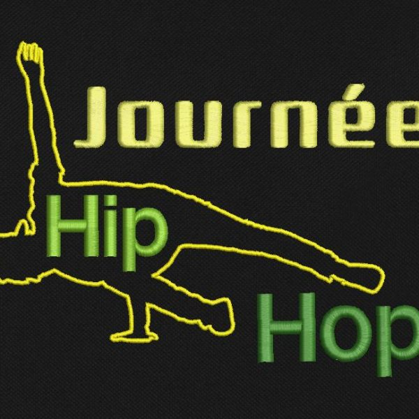 motif de broderie machine journée hip hop.
