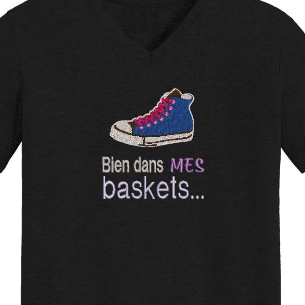 motif de broderie machine bien dans mes baskets.