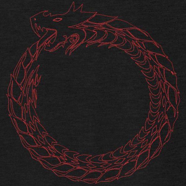 motif de broderie machine anneau dragon.