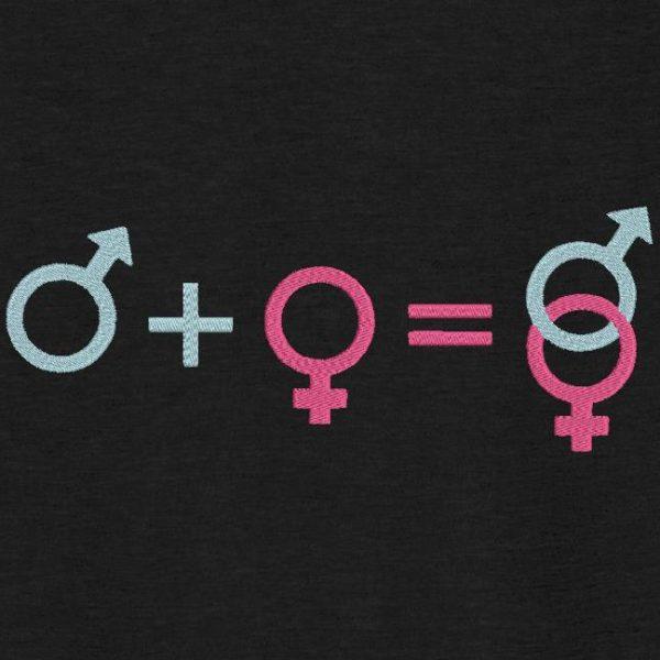 motif de broderie machine union mâle et femelle logos.