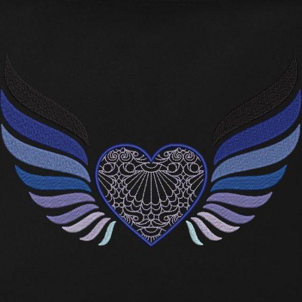 cœur avec des ailes 2. motif de broderie machine cœur avec des ailes 2. cadre: 10 x 10 /13 x 18 / 16 x 26 / 20 x 20 / 20 x 30 . Formats des fichiers dans votre téléchargement PES,CSD,EXP,HUS,SHV,VIP,XXX,DST,PCS,VP3,EMB,JEF…