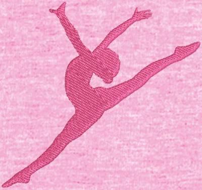 motif de broderie machine silhouette d'une danseuse de ballet. cadre: 10 x 10 / 13 x 18 /16 x 26 / 20 x 20 / 20 x 30 . Formats des fichiers dans votre téléchargement PES,CSD,EXP,HUS,SHV,VIP,XXX,DST,PCS,VP3,EMB,JEF…
