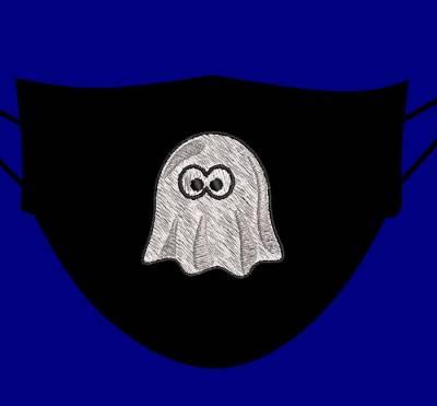 fantôme halloween 5 cm pour masques
