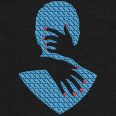 motif de broderie machine étreinte amoureuse. Qui représente des mains féminines avec du vernis , qui enlacent le cou d'un homme. cadre:10 x 10 / 13 x 18 /16 x 26 / 20 x 20 / 20 x 30 . Formats des fichiers dans votre téléchargement PES,CSD,EXP,HUS,SHV,VIP,XXX,DST,PCS,VP3,EMB,JEF…
