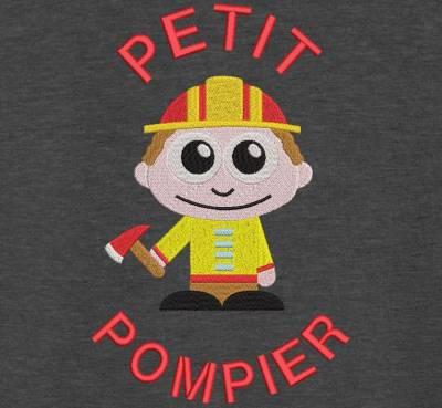 Motif de broderie machine petit pompier. cadre:10 x 10 / 13 x 18 /16 x 26 / 20 x 20 / 20 x 30 . Formats des fichiers dans votre téléchargement PES,CSD,EXP,HUS,SHV,VIP,XXX,DST,PCS,VP3,EMB,JEF…