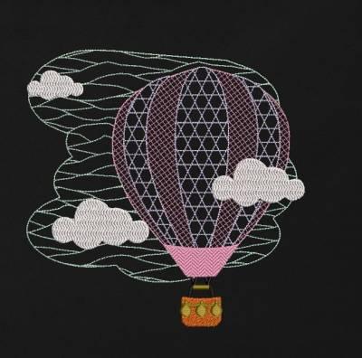 motif de broderie machine d'une montgolfière ou ballon dans les nuages. cadre:10 x 10 / 13 x 18 /16 x 26 / 20 x 20 / 20 x 30 . Formats des fichiers dans votre téléchargement PES,CSD,EXP,HUS,SHV,VIP,XXX,DST,PCS,VP3,EMB,JEF… Téléchargement immédiat après votre paiement et aussi disponible dans votre compte.