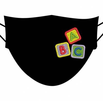 motif de broderie machine ABC 4 cm pour masques enfants. cadre:10 x 10 . Formats des fichiers dans votre téléchargement PES,CSD,EXP,HUS,SHV,VIP,XXX,DST,PCS,VP3,EMB,JEF… Téléchargement immédiat après votre paiement et aussi disponible dans votre compte.