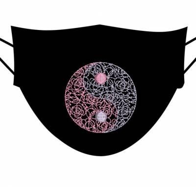 motif de broderie machine le yin et le yang fleuri 5 cm pour masques. cadre:10 x 10 . Formats des fichiers dans votre téléchargement PES,CSD,EXP,HUS,SHV,VIP,XXX,DST,PCS,VP3,EMB,JEF… Téléchargement immédiat après votre paiement et aussi disponible dans votre compte.