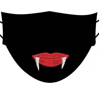 motif de broderie machine dents de vampire 5 et 8 cm pour masques. cadre:10 x 10 . Formats des fichiers dans votre téléchargement PES,CSD,EXP,HUS,SHV,VIP,XXX,DST,PCS,VP3,EMB,JEF… Téléchargement immédiat après votre paiement et aussi disponible dans votre compte.