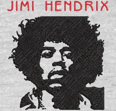 Motif de broderie machine Jimi Hendrix. cadre: 10 x 10 . Formats des fichiers dans votre téléchargement PES,CSD,EXP,HUS,SHV,VIP,XXX,DST,PCS,VP3,EMB,JEF… Téléchargement immédiat après votre paiement et aussi disponible dans votre compte.