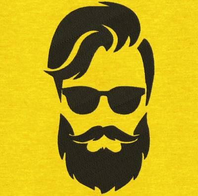 Motif de broderie machine visage homme barbe et lunettes. Idéal pour un tablier de barbier ou autre créations. cadre: 10 x 10 /13 x 18 / 20 x 20 /26 x 16 / 20 x 30 . Formats des fichiers dans votre téléchargement PES,CSD,EXP,HUS,SHV,VIP,XXX,DST,PCS,VP3,EMB,JEF… Téléchargement immédiat après votre paiement et aussi disponible dans votre compte.