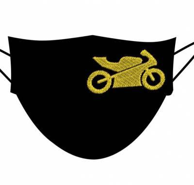 Motif de broderie machine moto pour masques 6 cm. cadre: 10 x 10 . Formats des fichiers dans votre téléchargement PES,CSD,EXP,HUS,SHV,VIP,XXX,DST,PCS,VP3,EMB,JEF… Téléchargement immédiat après votre paiement et aussi disponible dans votre compte.