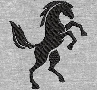 Motif de broderie machine silhouette d'un cheval qui se cabre. cadre:  10 x 10 /13 x 18 / 16 x 26 / 20 x 20 / 20 x 30 . Formats des fichiers dans votre téléchargement PES,CSD,EXP,HUS,SHV,VIP,XXX,DST,PCS,VP3,EMB,JEF… Téléchargement immédiat après votre paiement et aussi disponible dans votre compte.