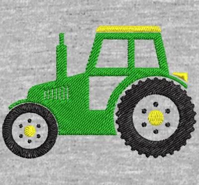 Motif de broderie machine silhouette d'un tracteur . cadre: 10 x 10 . Formats des fichiers dans votre téléchargement PES,CSD,EXP,HUS,SHV,VIP,XXX,DST,PCS,VP3,EMB,JEF… Téléchargement immédiat après votre paiement et aussi disponible dans votre compte.