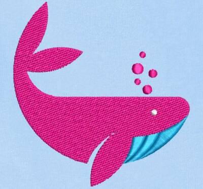 Motif de broderie machine baleine rose. cadre: 10 x 10 / 13 x 18 . Formats des fichiers dans votre téléchargement PES,CSD,EXP,HUS,SHV,VIP,XXX,DST,PCS,VP3,EMB,JEF… Téléchargement immédiat après votre paiement et aussi disponible dans votre compte.
