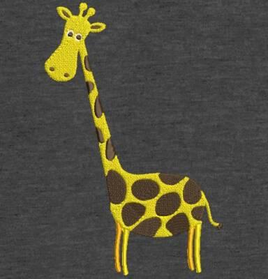 Motif de broderie machine jolie petite girafe. cadre: 10 x 10 / 13 x 18 . Formats des fichiers dans votre téléchargement PES,CSD,EXP,HUS,SHV,VIP,XXX,DST,PCS,VP3,EMB,JEF… Téléchargement immédiat après votre paiement et aussi disponible dans votre compte.