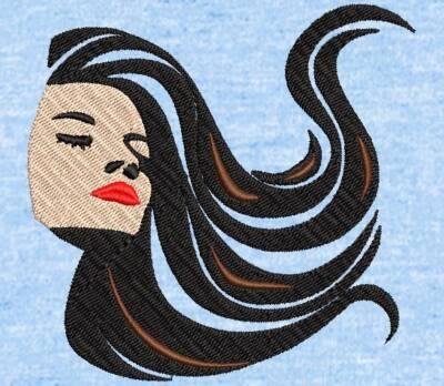 Motif de broderie machine visage femme cheveux arabesques. cadre: 10 x 10 / 10 cm. Formats des fichiers dans votre téléchargement PES,CSD,EXP,HUS,SHV,VIP,XXX,DST,PCS,VP3,EMB,JEF… Téléchargement immédiat après votre paiement et aussi disponible dans votre compte.