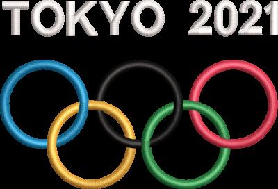 Motif de broderie machine anneaux jeux olympiques TOKYO 2021. cadre: 10 x 10 / 10 cm. Formats des fichiers dans votre téléchargement PES,CSD,EXP,HUS,SHV,VIP,XXX,DST,PCS,VP3,EMB,JEF… Téléchargement immédiat après votre paiement et aussi disponible dans votre compte.