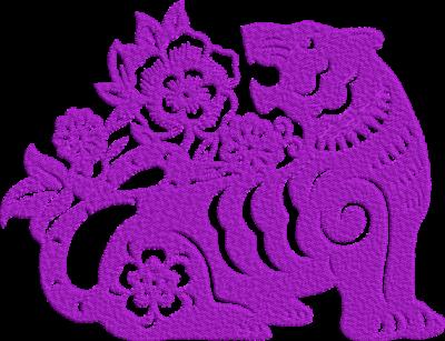 Motif de broderie machine tigre et fleurs. Dimensions : 10 x 10 cm / 13 x 18 cm . Formats des fichiers dans votre téléchargement PES,CSD,EXP,HUS,SHV,VIP,XXX,DST,PCS,VP3,EMB,JEF… Téléchargement immédiat après votre paiement et aussi disponible dans votre compte.