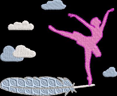 Motif de broderie machine danseuse ballerine sur une plume dans les nuages. Dimensions : 10 x 10 cm / 13 x 18 cm . Formats des fichiers dans votre téléchargement PES,CSD,EXP,HUS,SHV,VIP,XXX,DST,PCS,VP3,EMB,JEF… Téléchargement immédiat après votre paiement et aussi disponible dans votre compte. Après avoir téléchargé le dossier vous devez le dézipper pour récupérer le fichier compatible avec votre machine. N'hésitez pas à nous demander le format de fichier de broderie compatible avec votre machine si il ne figure pas dans la liste ci dessus. Merci.