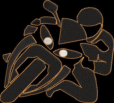 Motif de broderie machine motard sur sa moto de course. Dimensions : 10 x 10 cm . Formats des fichiers dans votre téléchargement PES,CSD,EXP,HUS,SHV,VIP,XXX,DST,PCS,VP3,EMB,JEF… Téléchargement immédiat après votre paiement et aussi disponible dans votre compte.