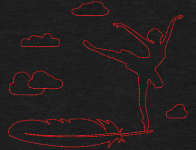 Motif de broderie machine danseuse ballerine sur une plume dans les nuages redwork. Dimensions : 10 x 10 cm / 13 x 18 cm / 16 x 26 . Formats des fichiers dans votre téléchargement PES,CSD,EXP,HUS,SHV,VIP,XXX,DST,PCS,VP3,EMB,JEF… Téléchargement immédiat après votre paiement et aussi disponible dans votre compte. Après avoir téléchargé le dossier vous devez le dézipper pour récupérer le fichier compatible avec votre machine. N'hésitez pas à nous demander le format de fichier de broderie compatible avec votre machine si il ne figure pas dans la liste ci dessus. Merci.