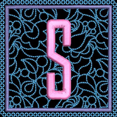 Motif de broderie machine alphabet carré fleuri S. Dimensions : 10 x 10 cm . Formats des fichiers dans votre téléchargement PES,CSD,EXP,HUS,SHV,VIP,XXX,DST,PCS,VP3,EMB,JEF… Téléchargement immédiat après votre paiement et aussi disponible dans votre compte.