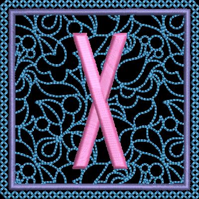 Motif de broderie machine alphabet carré fleuri X. Dimensions : 10 x 10 cm . Formats des fichiers dans votre téléchargement PES,CSD,EXP,HUS,SHV,VIP,XXX,DST,PCS,VP3,EMB,JEF… Téléchargement immédiat après votre paiement et aussi disponible dans votre compte.