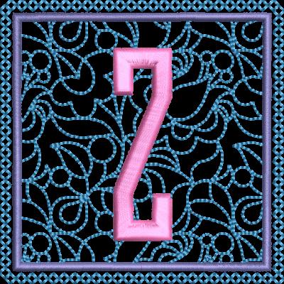 Motif de broderie machine alphabet carré fleuri Z. Dimensions : 10 x 10 cm . Formats des fichiers dans votre téléchargement PES,CSD,EXP,HUS,SHV,VIP,XXX,DST,PCS,VP3,EMB,JEF… Téléchargement immédiat après votre paiement et aussi disponible dans votre compte.