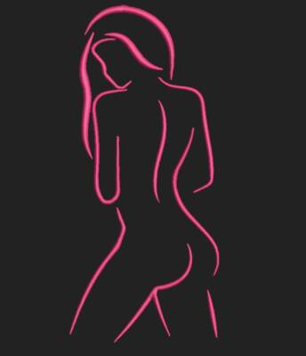 silhouette d'une femme nue 1. Motif de broderie machine silhouette d'une femme nue 1. Dimensions : 10 x 10 cm / 13 x 18 cm / 20 x 20 cm . Formats des fichiers dans votre téléchargement PES,CSD,EXP,HUS,SHV,VIP,XXX,DST,PCS,VP3,EMB,JEF… Téléchargement immédiat après votre paiement et aussi disponible dans votre compte. Après avoir téléchargé le dossier vous devez le dézipper pour récupérer le fichier compatible avec votre machine. N'hésitez pas à nous demander le format de fichier de broderie compatible avec votre machine si il ne figure pas dans la liste ci dessus. Merci.