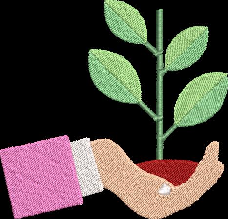 Motif de broderie machine main avec une plante. Pour celles ou ceux qui ont la main verte. Dimensions : 10 x 10 cm / 13 x 18 . Formats des fichiers dans votre téléchargement PES,CSD,EXP,HUS,SHV,VIP,XXX,DST,PCS,VP3,EMB,JEF… Téléchargement immédiat après votre paiement et aussi disponible dans votre compte. Après avoir téléchargé le dossier vous devez le dézipper pour récupérer le fichier compatible avec votre machine.